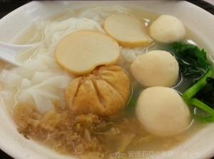 1113 白魚蛋魚片麪配冬菜
